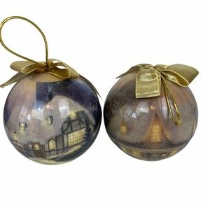 ✨2/$25 Thomas Kinkade Christmas Ornaments Globes